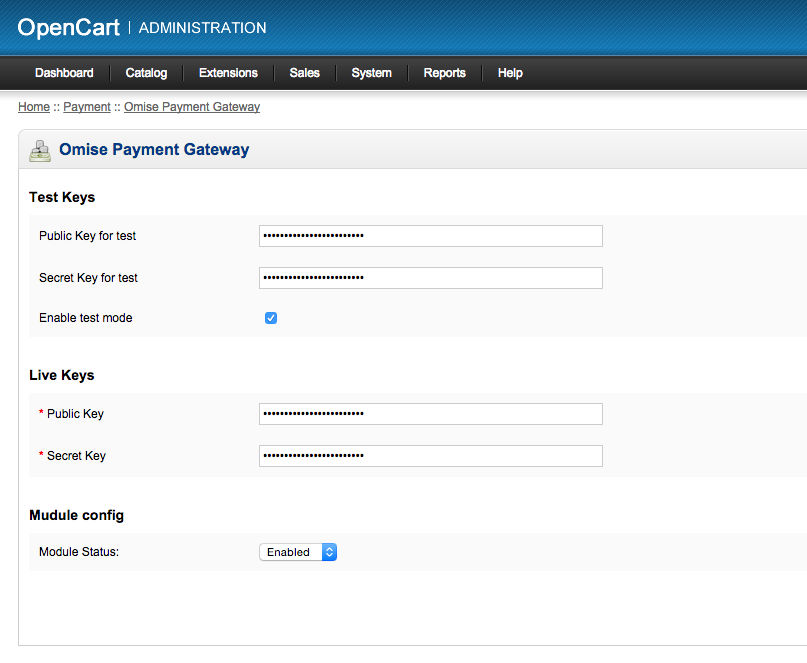 Omise Payment Gateway Form