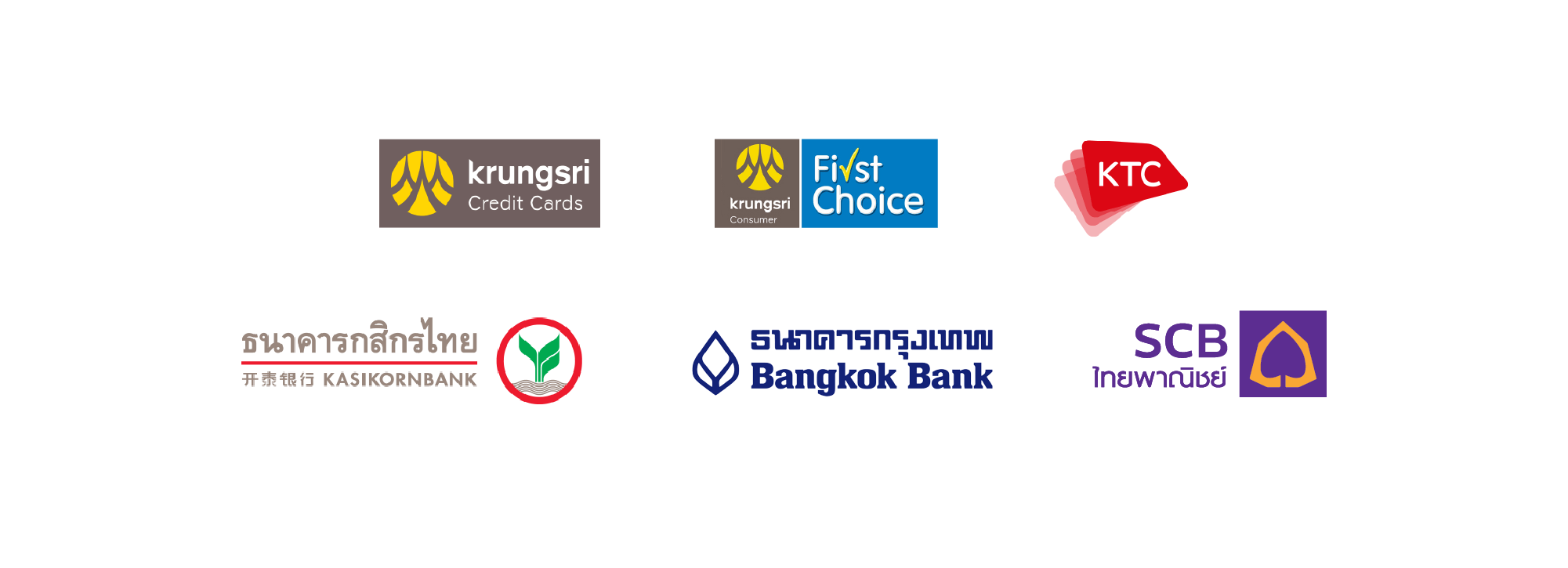 Supported card brands